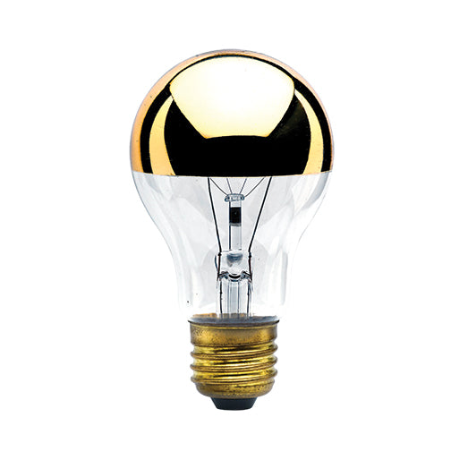 Incandescent Filament Half Gold E26 Base A19 Bulb