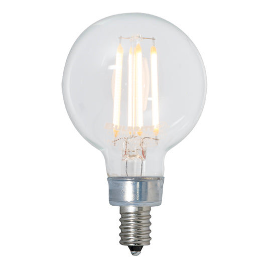 LED Clear Globe E12 Base G16 Bulb