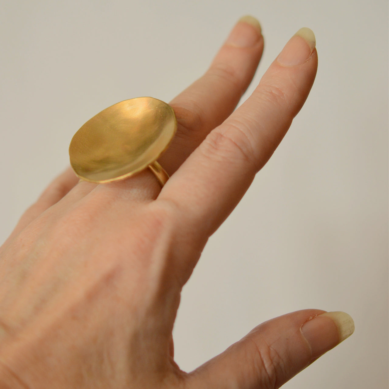 Indentation Brass Ring