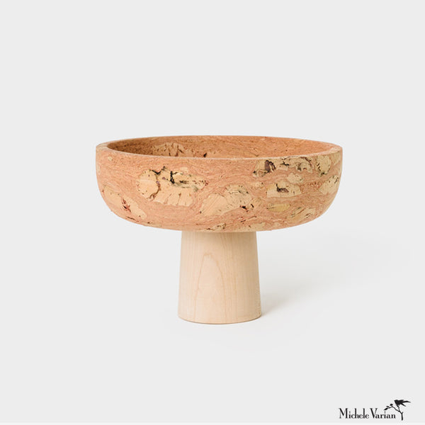 Cork Pedestal Bowl