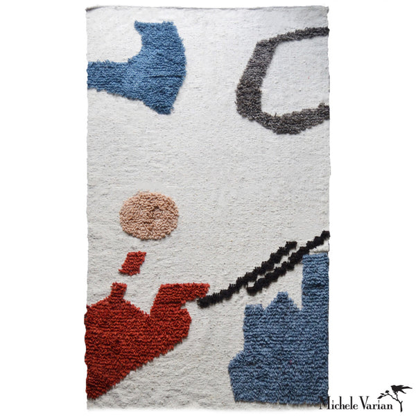 Abstract Woven Wool Rug No. 2