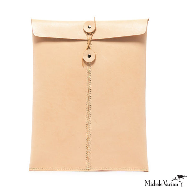 Leather Memo Envelope Natural