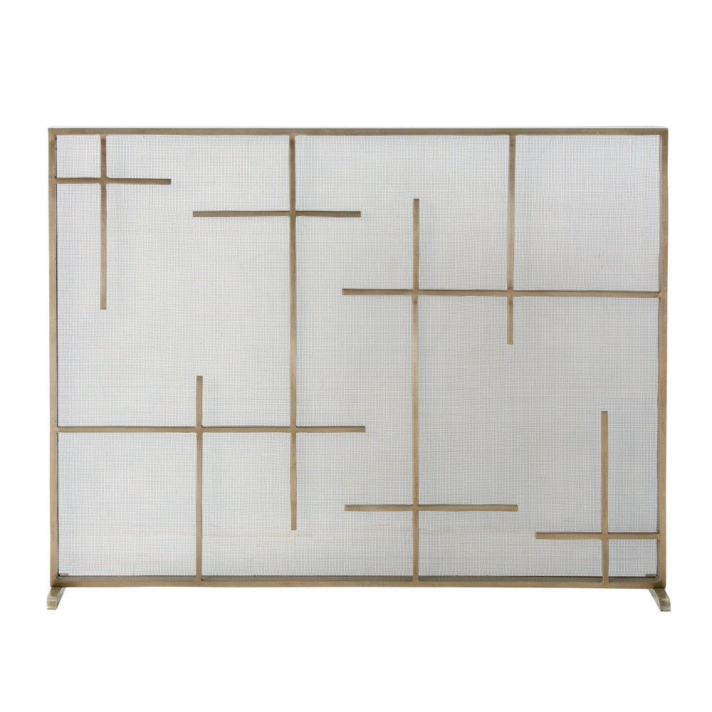 Hash Brass Fireplace Screen