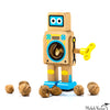Wooden Robot Nutcracker