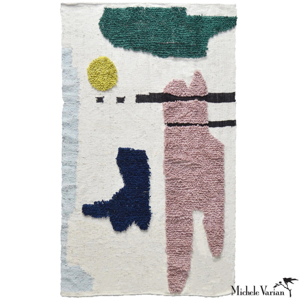 Abstract Woven Wool Rug No. 1