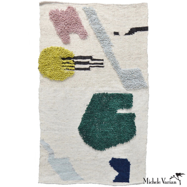 Abstract Woven Wool Rug No. 3