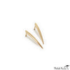 Gold Long Claw Spike Stud Earrings