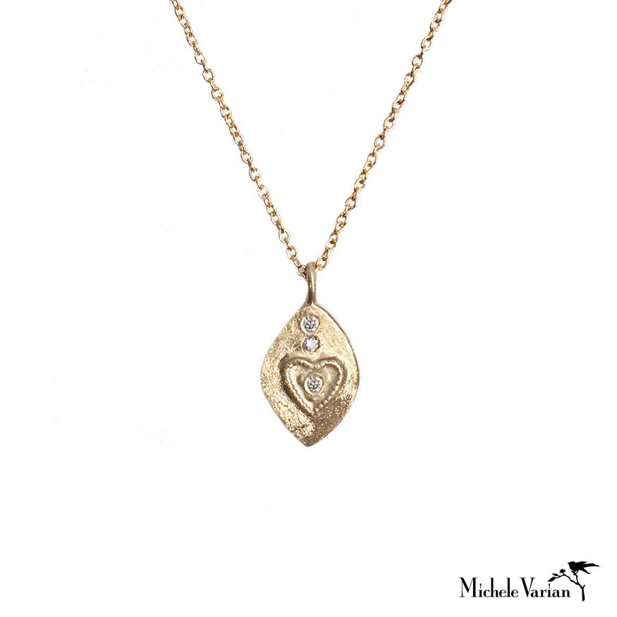 Heart and Diamonds Necklace
