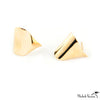 Gold Leaf Hug Stud Earrings