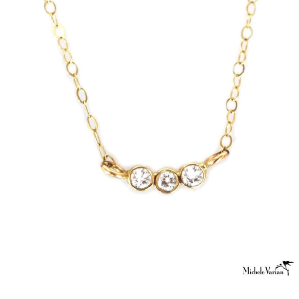 Trio Diamond and Gold Necklace