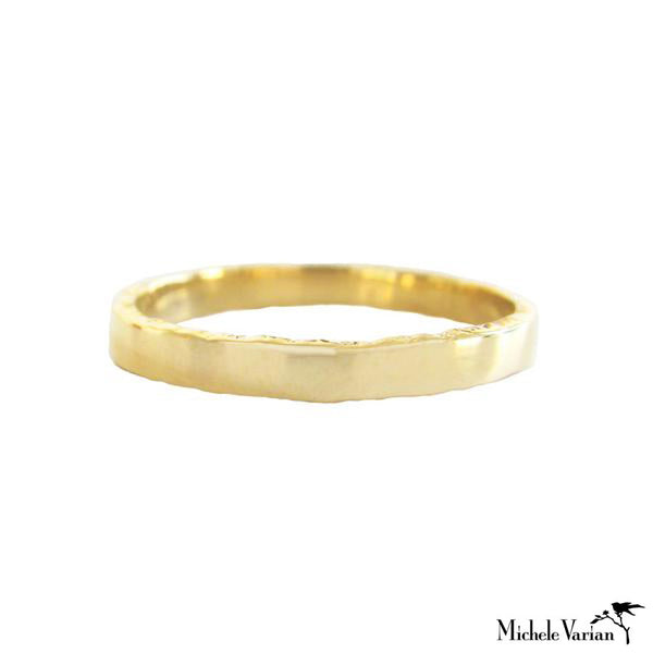 Edged Gold Band Ring