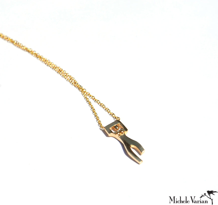 Tiny Gold Mademoiselle Necklace