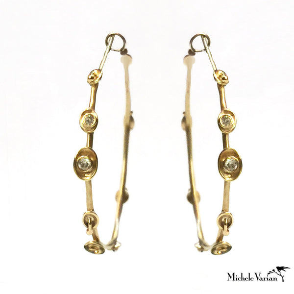 Pod Floral Gold Earrings