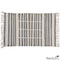 Broken Stripe Block Print Cotton Rug 2x3