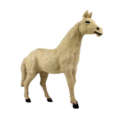 Natural Burlap Horse Small