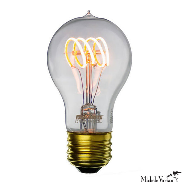LED Antique Curved Filament E26 Base A19 Bulb