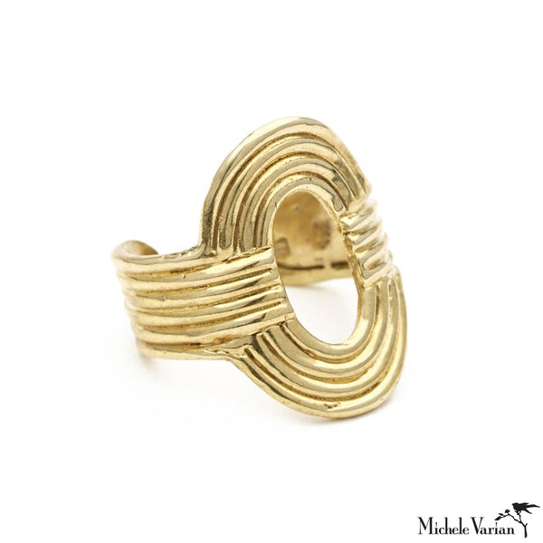 Brass Open Ellipse Ring