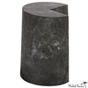 Floor Model - A Slice Missing Black Marble Side Table
