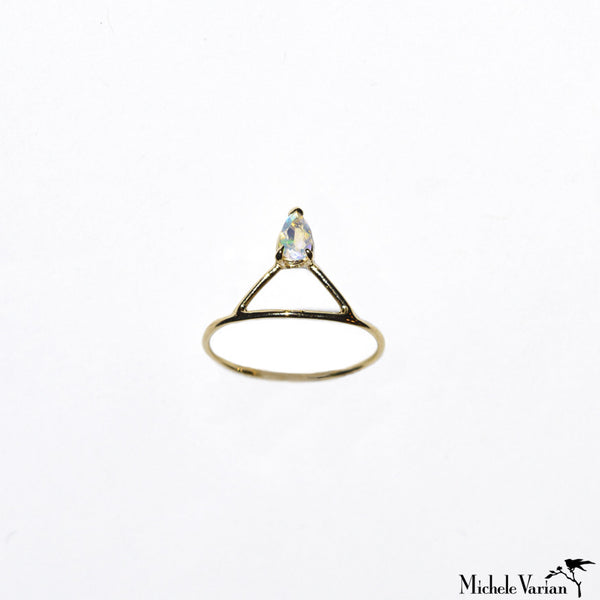 Opal Accent Gold Ring