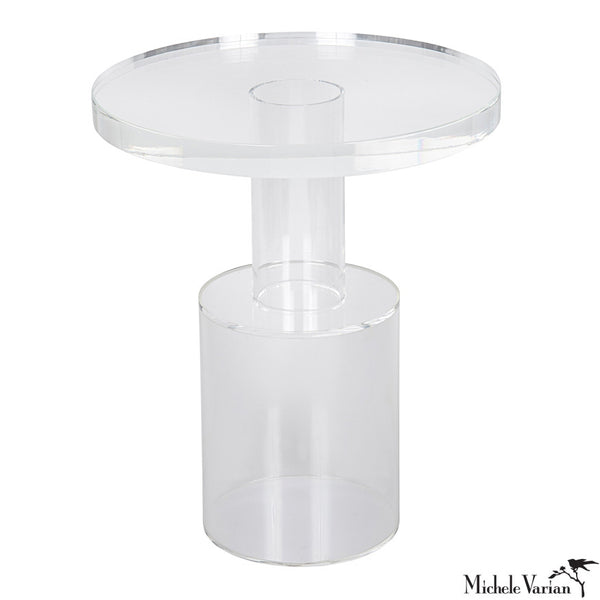 Acrylic Round Side Table