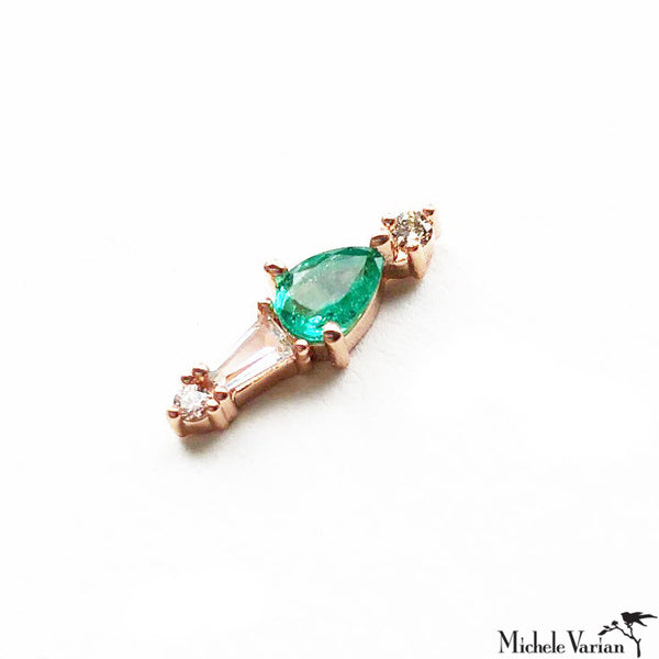 Adele Emerald Earring Single