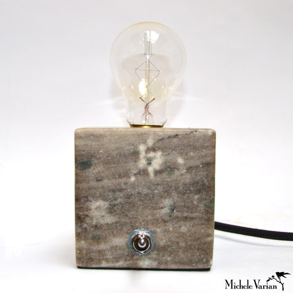Almond Marble Block Table Light
