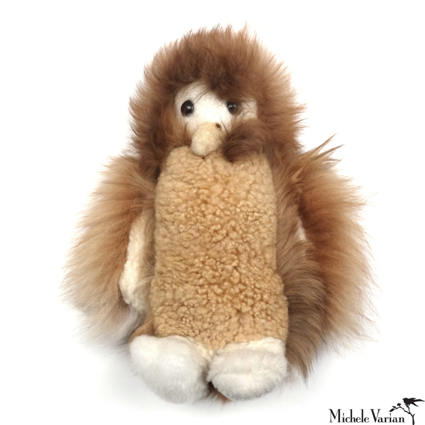 Alpaca Fur Owl Toy