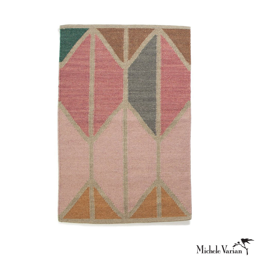 Wool Geometric Shapes Rug No. 04