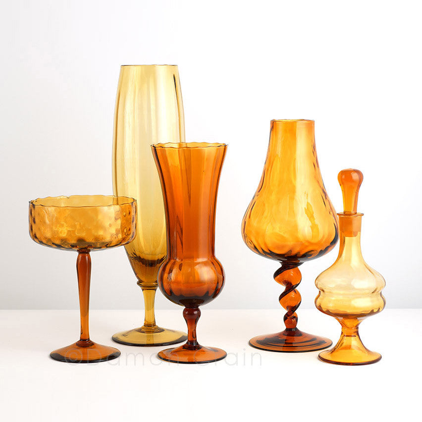 Empoli Glass Amber Group 4