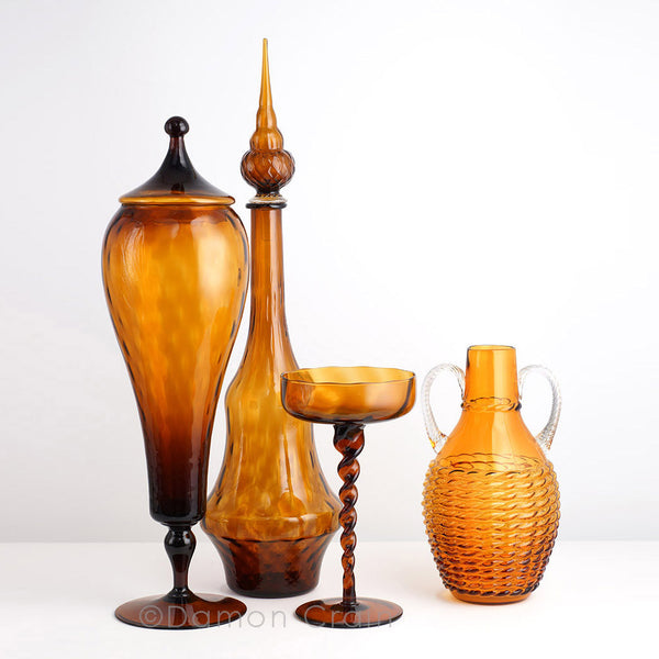 Empoli Glass Amber Group 5