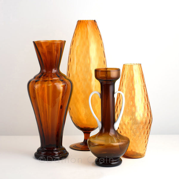 Empoli Glass Amber Group 8