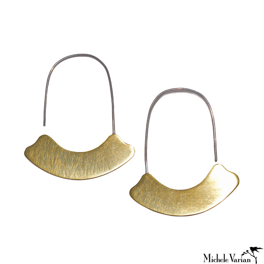 Brass and Silver Arch Hoops