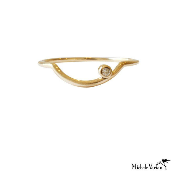 Arch Diamond Gold Ring