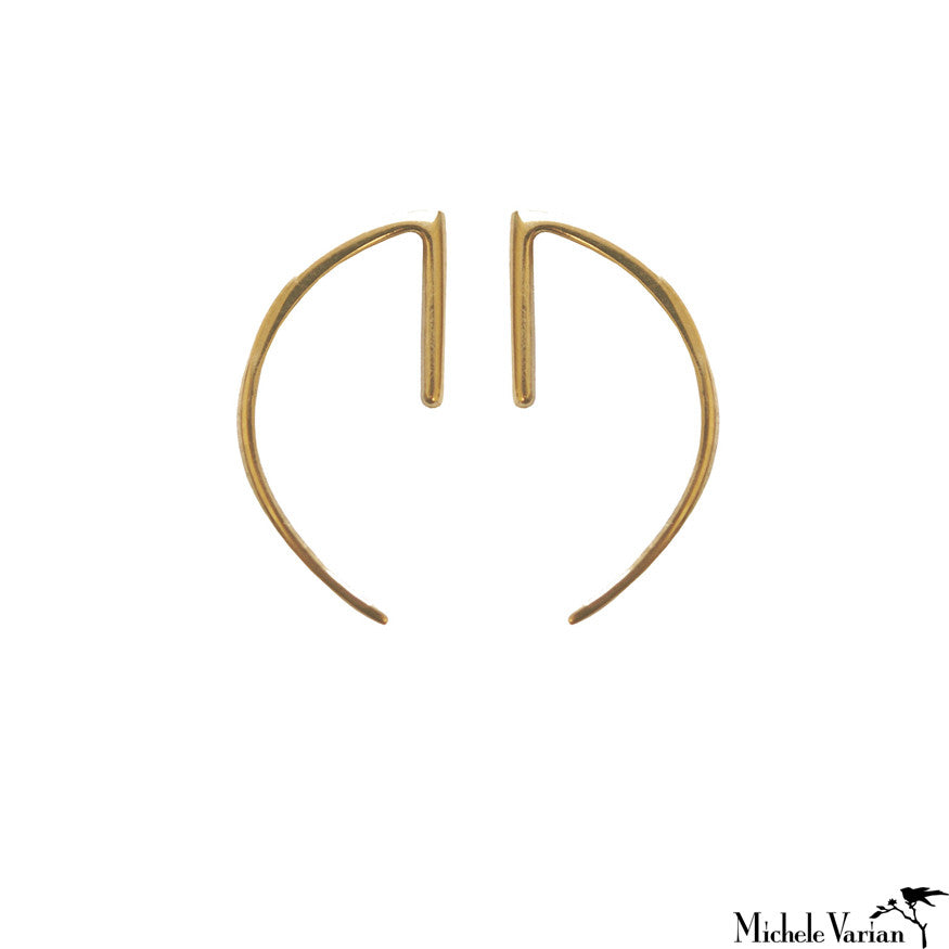 Simple Hook Gold Studs