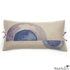 Printed Linen Pillow Arcs Blue 12x22