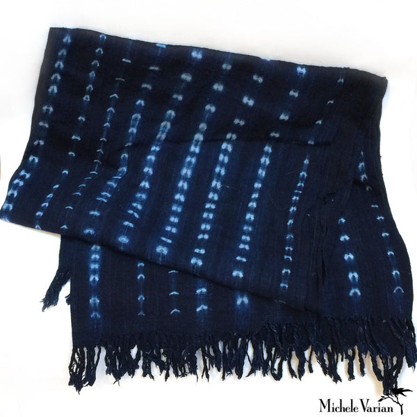 Indigo Dye Arrow Mud Cloth Textile