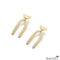 Small Brass Single Arch Stud Earrings