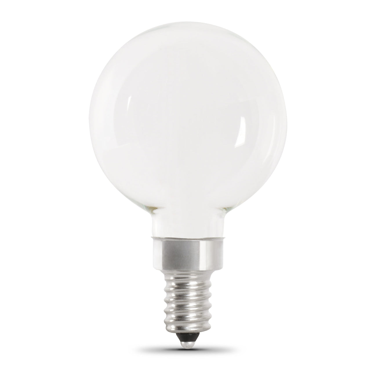 White E12 Base LED G16 1/2 Bulb