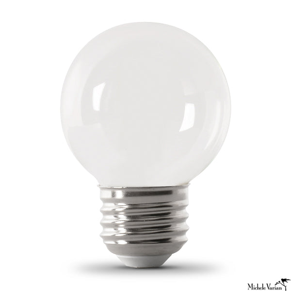 White LED E26 Base G16 Globe Bulb