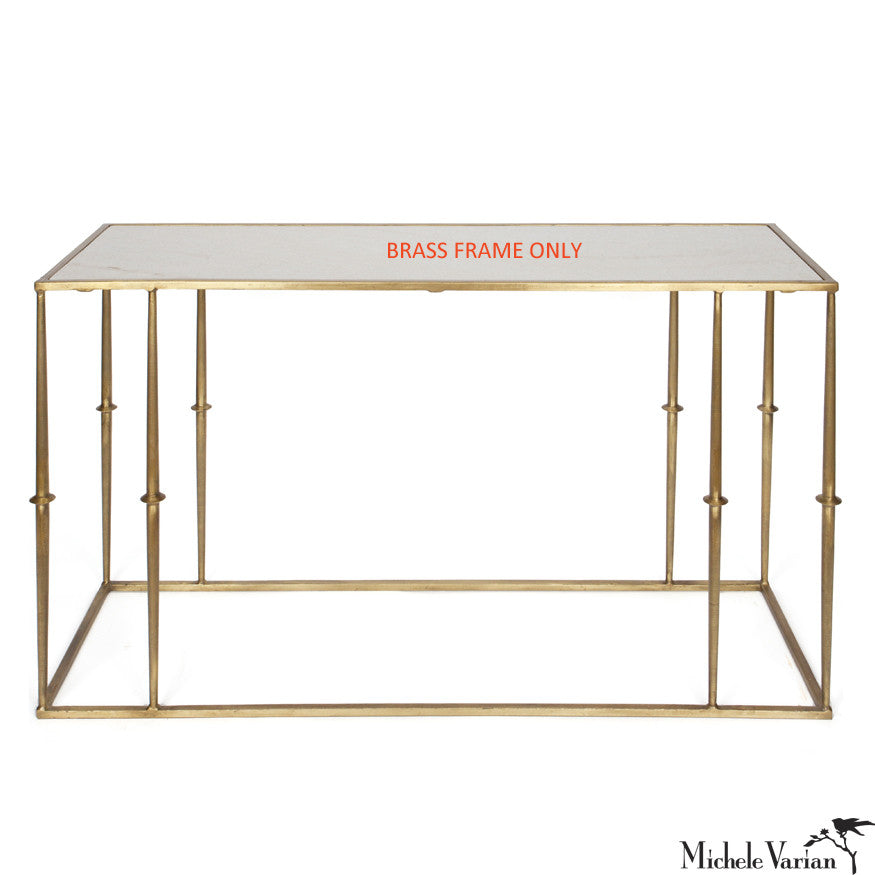 STOOP SALE Console Table Brass Finish Frame ONLY