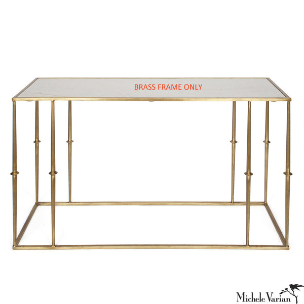 Console Table Brass Finish Frame ONLY