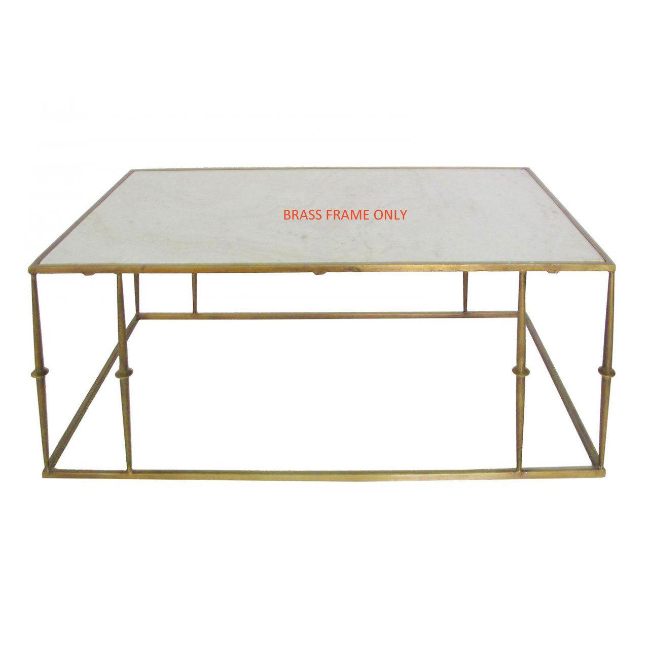 Coffee Table Brass Finish Frame ONLY