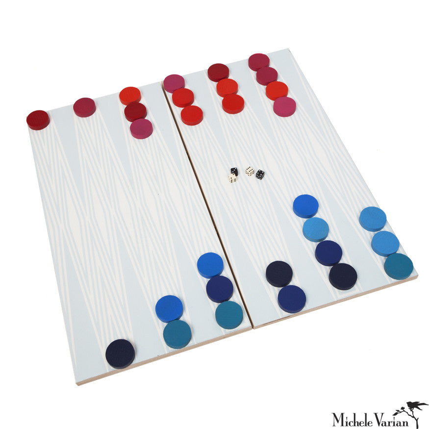 Travel Backgammon Blue
