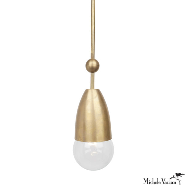 Brass Cup and Ball Pendant Light