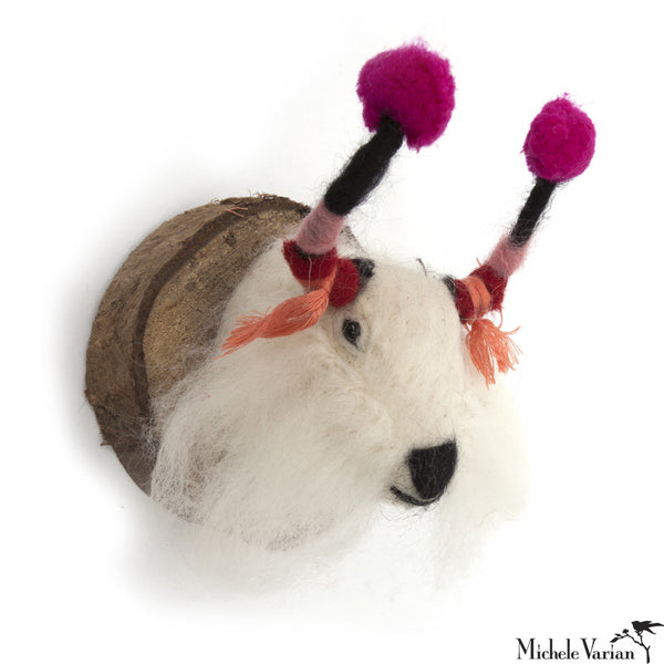 Felt Animal Wall Mount Winter Yak