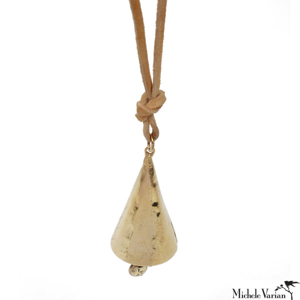 Brass Bell Necklace