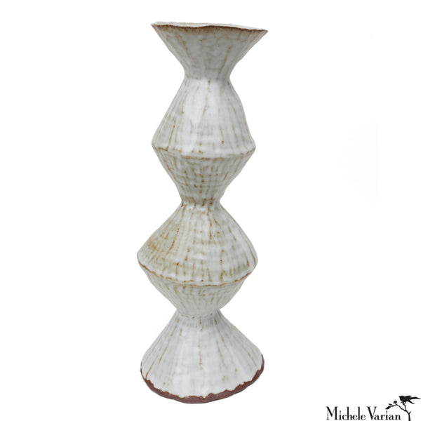 Sculptural Stoneware Vase Diamond
