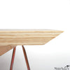 Copper Sawhorse Desk with Plywood Top
