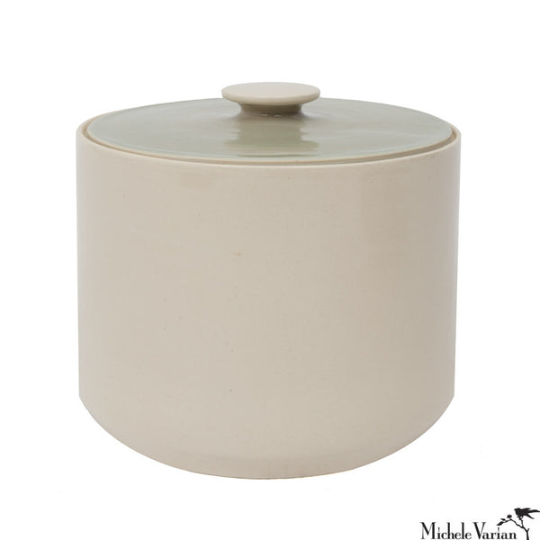 Bi Color Retro Lidded Jar Large