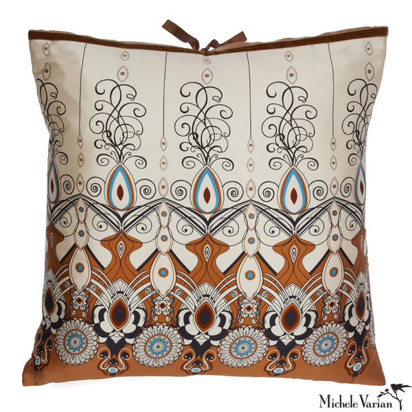 Silk Print Pillow Biedermeier 26x26